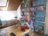 Spisovatelka_Petra_Braunová_v_libošovické_knihovně