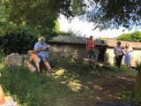 Libošovice 4_ 7_ 2021 Libor Hofman čte na hřbitově